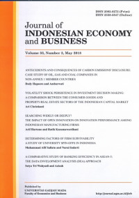 Image of Journal of Indonesian Economy & Business=Jurnal Ekonomi & Bisnis Indonesia